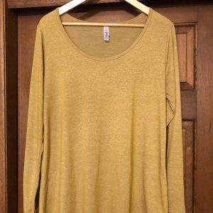 LuLaRoe L Lynnae (long-sleeved classic) - Yellow